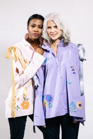 hand painted cotton blouse custom clothing designer denver