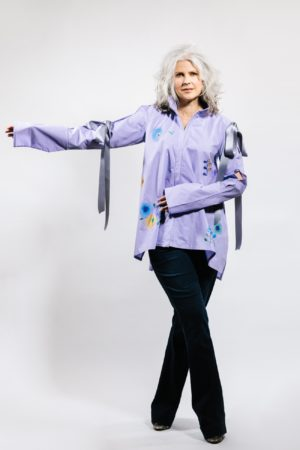 hand painted cotton blouse custom clothing designer denver