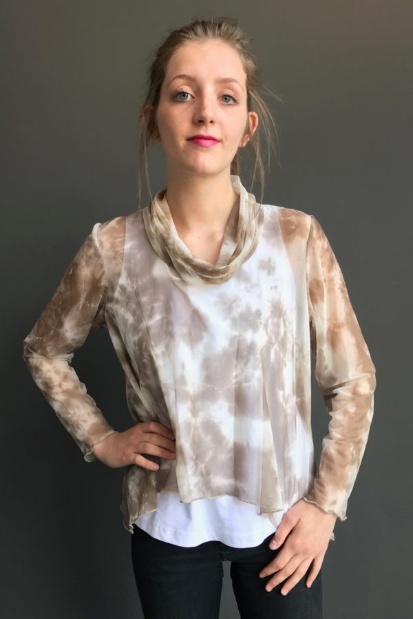 mesh tunic mocha brooks ltd clothing designer in denver