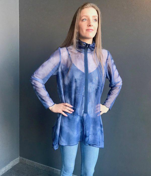 navy tie dye mesh tunic brooks ltd denver colorado