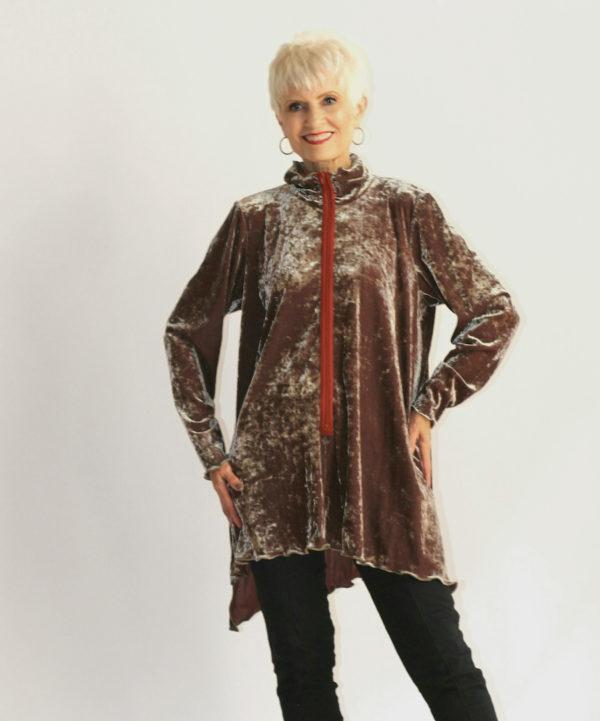 red velvet women's shirt for fall